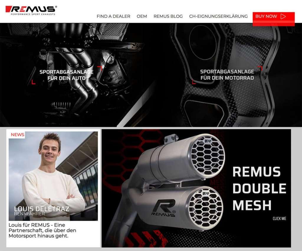 Aerotechnik Fahrzeugteile | Blog | REMUS | Relaunch der REMUS Webseite
